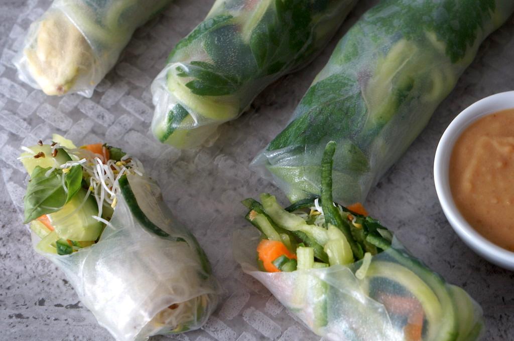 rolls cut in half