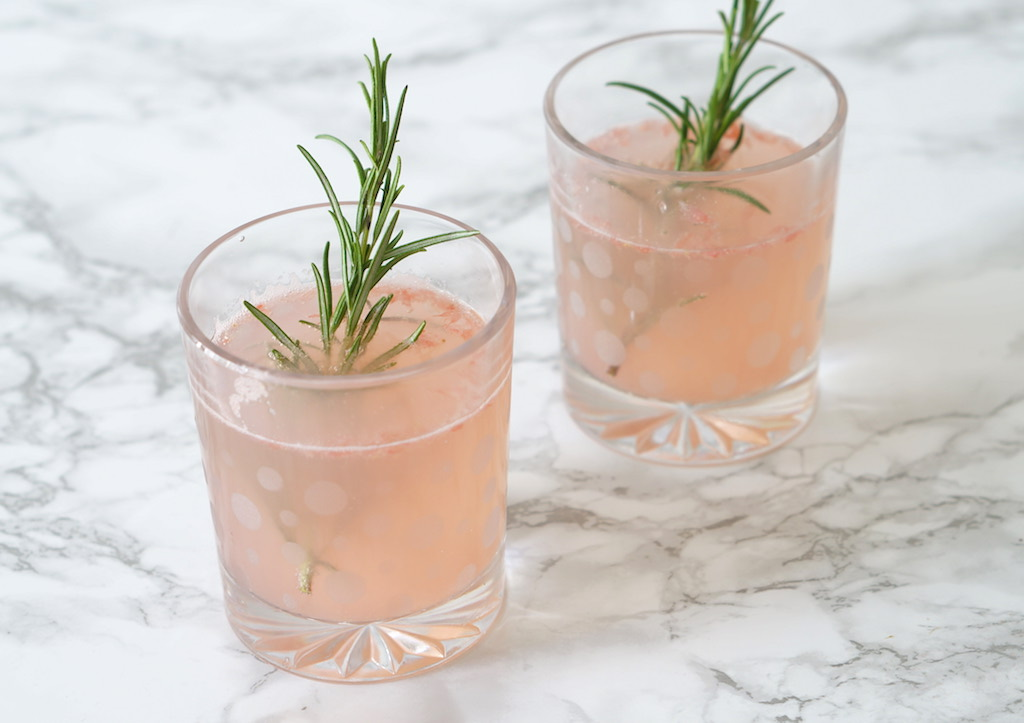 Grapefruit and rosemary drink