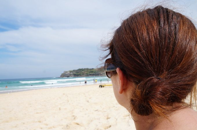 watching the waves at Bondi Beach