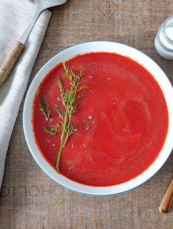beetroot and horseradish soup